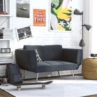 DHP Euro Loveseat Futon with Magazine Storage, Multiple Colors