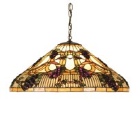 "Meyda Tiffany 52185 Tiffany Glass 3 Light 24"" Wide Pendant"