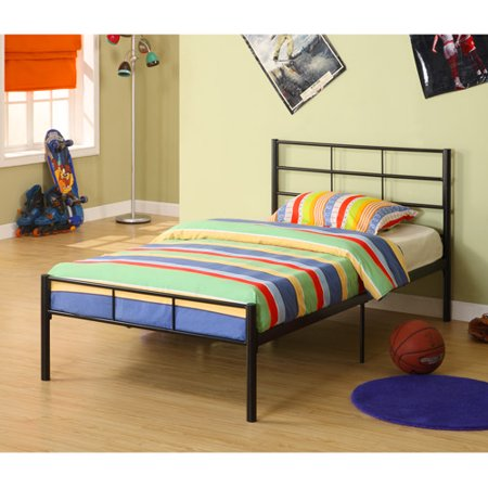 Home Loft Concept Twin Kids Metal Bed Frame In Black