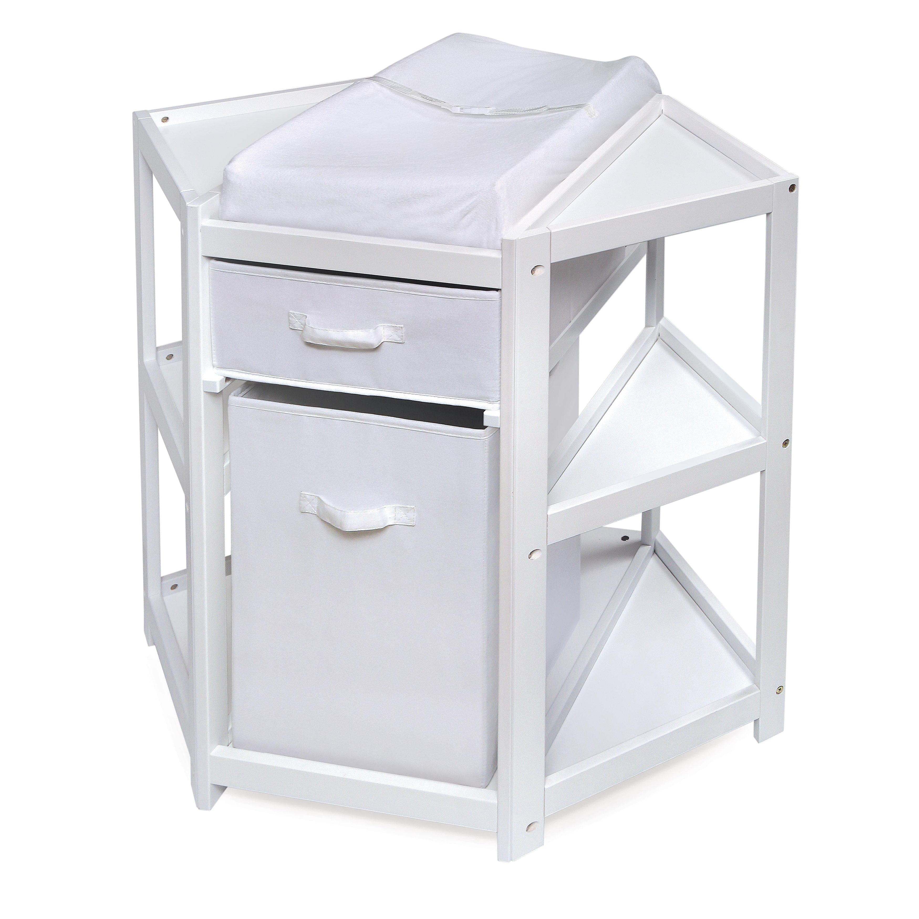 Badger Basket White Diaper Corner Baby Changing Table by Badger Basket