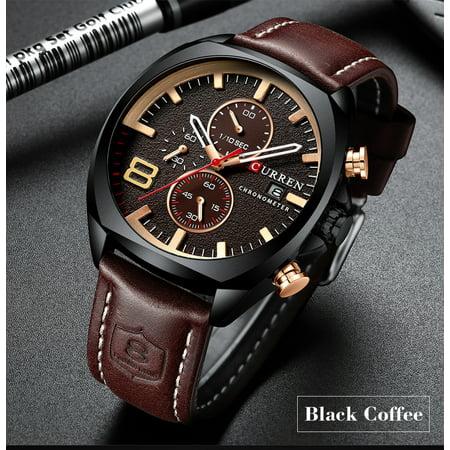 CURREN 8324 montre de sport de quartz d'homme de marque de mode décontracté mâle multi-fonction montre-bracelet étanche - image 5 of 7