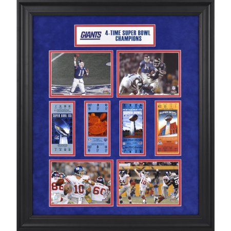 Mounted Memories Nfl New York Giants Super Bowl Ticket Collage Framed Memorabilia