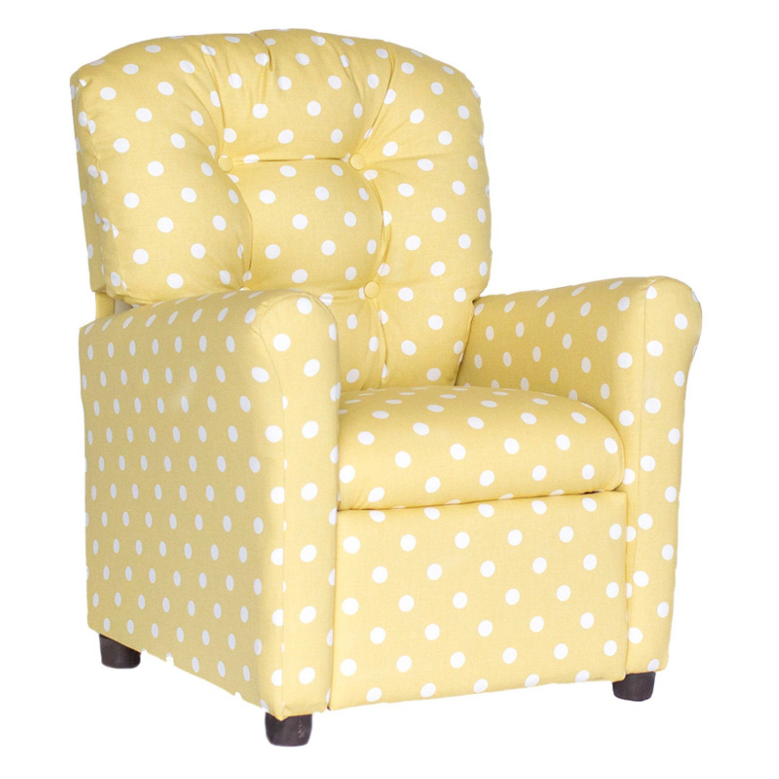 Brazil Furniture Polka-Dotted 4 Button Child Recliner