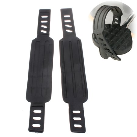 2x Generic Exercise Bike Bicycle Pedal Straps Belts Fixed Stationary Adjustable - image 3 of 6