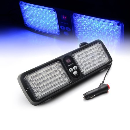 Xprite Blue 86 LED Sunshield Visor Strobe