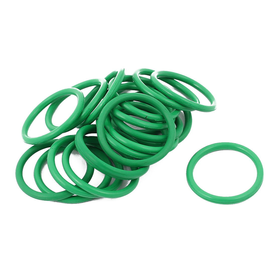 20pcs 1.5mm Thick Heat Resistant  Green O-Ring Rubber Sealing Ring 16mm OD