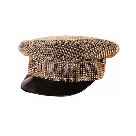 Disco 80S Gold Officer Adult Costume Accessory Halloween Hat