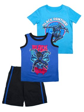 179551ca Product Image Muscle Tank, Tee, and Shorts, 3-Piece Outfit Set (Little Boys