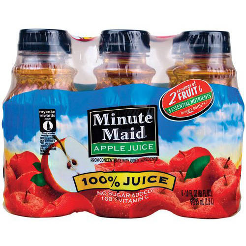 Minute Maid Juices To Go 100% Apple Juice, 6pk
