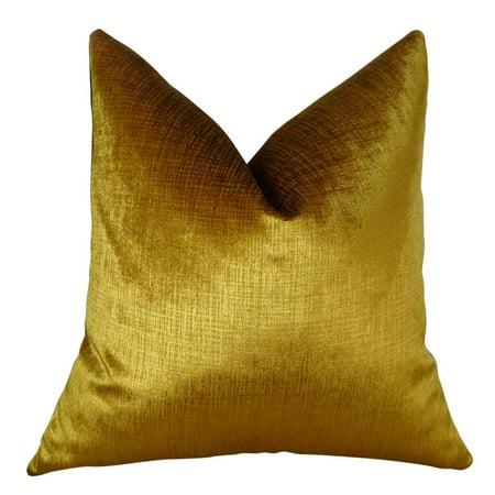 Lumiere Bronze Handmade Throw Pillow