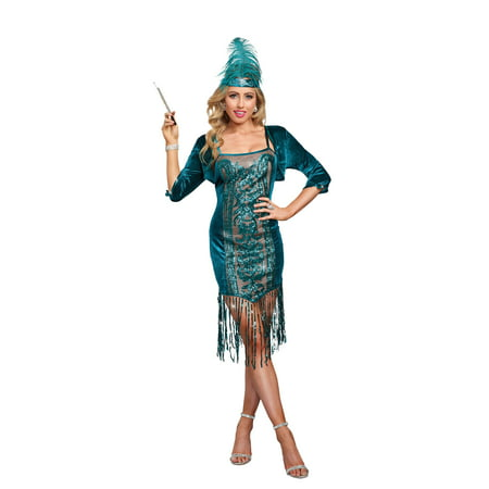 1920s Detective Costume (Dreamgirl Women's 1920's High Society Flapper)
