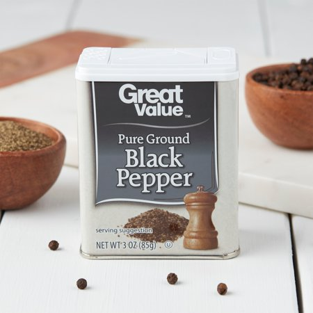 Great Value Pure Ground Black Pepper, 3 oz - Walmart com