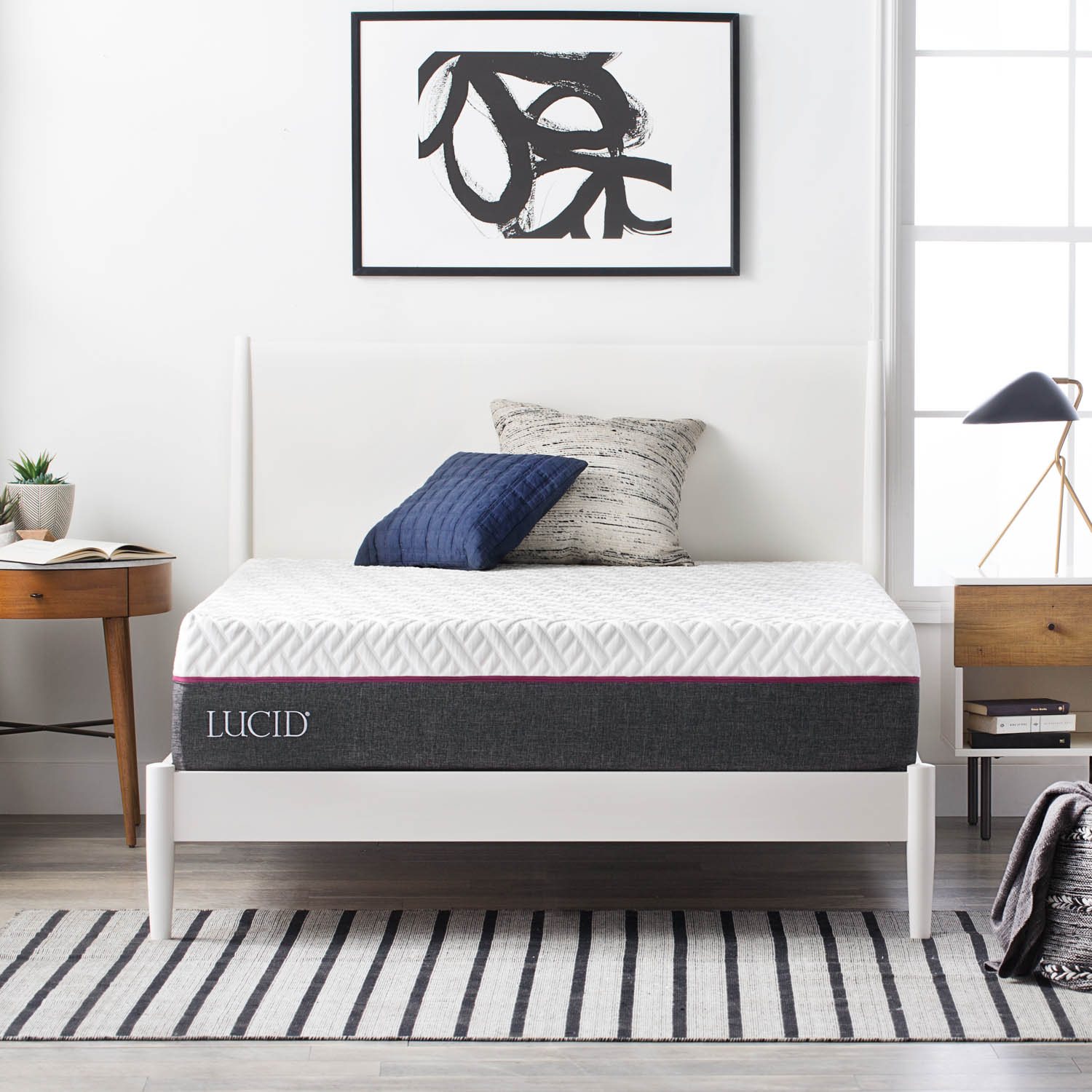 Lucid 13 Inch Prime Gel Memory Foam and Latex Hybrid Mattress