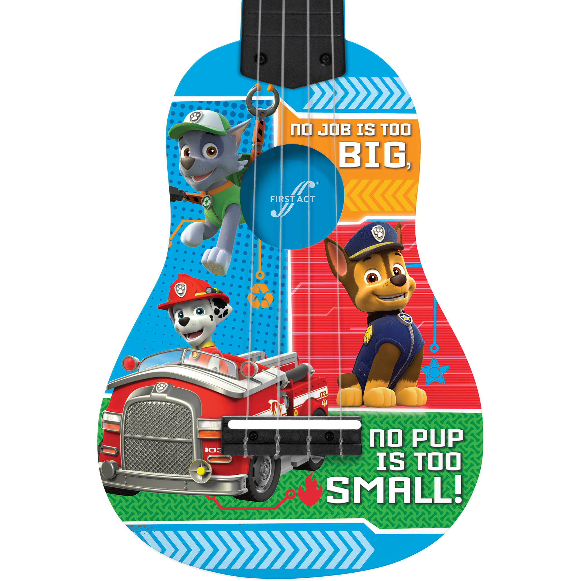 First Act Nickelodeon Paw Patrol Mini Guitar PP286 Blue Walmart