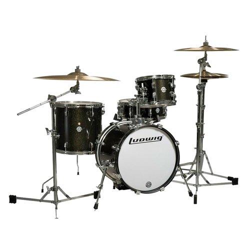 Ludwig Breakbeats 4-Piece Shell Pack w/ Riser - Black Sparkle