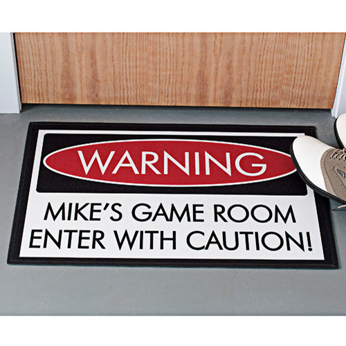 "Personalized Warning Doormat, 17"" x 27"""