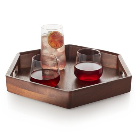 Christmas Story Sandwich Tray (Libbey Urban Story Wood Serving Tray with Handles,)