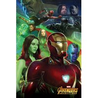 "Avengers: Infinity War - Movie Poster / Print (Iron Man, Spider-Man, Bucky Barnes, The Hulk, Dr. Strange, Black Panther...) (Size: 24"" x 36"")"