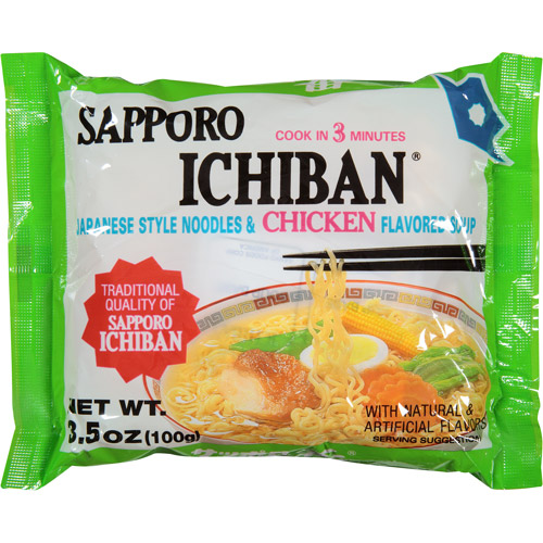 Sapporo Ichiban Chicken Flavored Soup & Noodles, 3.5 oz, (Pack of, 24)