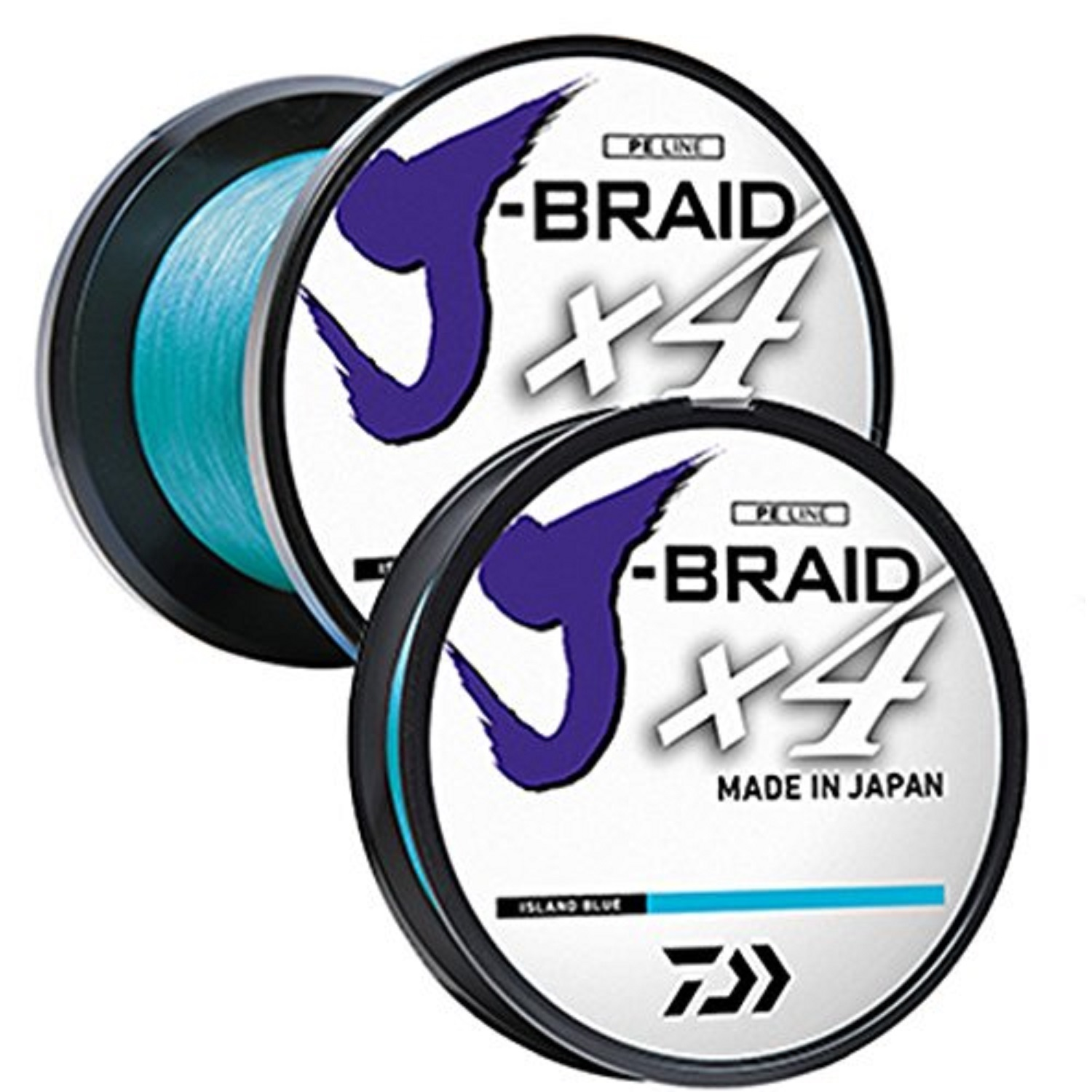 Daiwa J-Braid X4 300 Yard Spool 65LB Test, Dark Green
