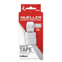 Mueller Athletic Tape Rolls Value Pack, 3 count (1.5 in x 10 yds each)