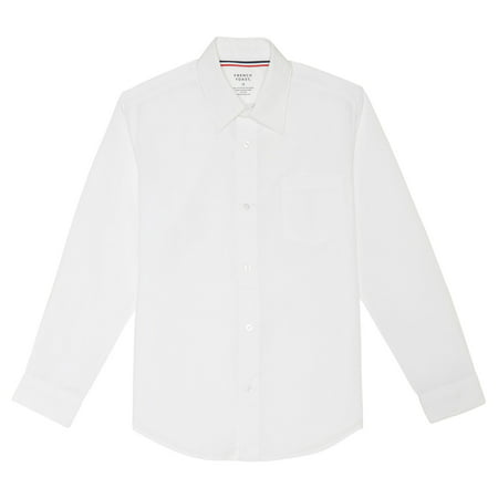Boys Long Sleeve Classic Dress Shirt - White Dress Shirt Boys