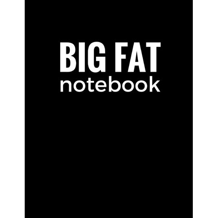 Big Fat Notebook (600 Pages): Black, Extra Large Ruled Blank Notebook, Journal, Diary (8.5 X 11 Inches) (Paperback)