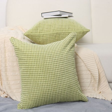 Home Sofa Cushion Cover Corduroy Striped Decorative Throw Pillow Case (Striped Pillow Cover)