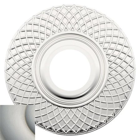 Baldwin R004056PV 2.62 in. Pair of Estate Rosettes for Privacy Functions - Lifetime Satin Nickel