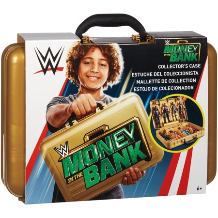 Money In the Bank - WWE Carrying Case for Toy Wrestling Action (Wwe Money In The Bank Cash In)