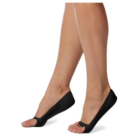Hue Womens Socks Jeans (cushioned sole classic open toe liner)