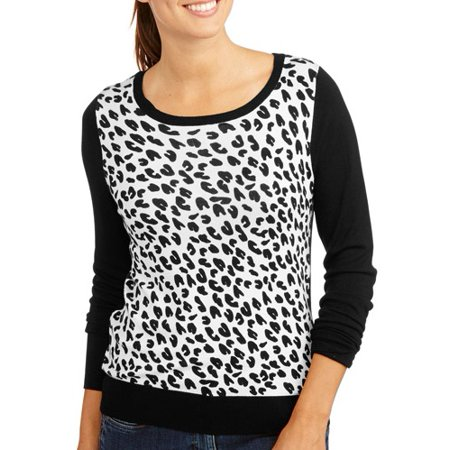 George - UK Women s Leopard Print Sweater - Walmart.com 0e1b488c5
