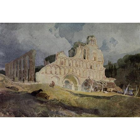 Walkers Quarterly 1926 St Botolphs Priory Essex Canvas Art - John Sell Cotman (18 x 24)
