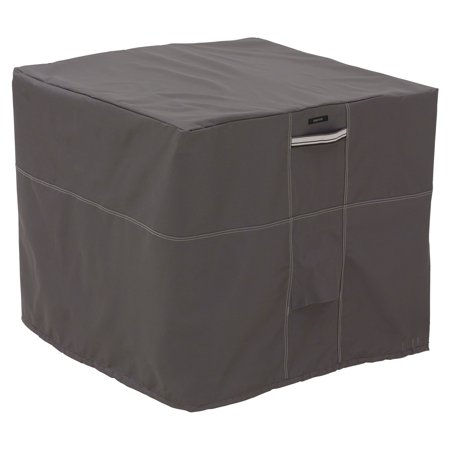 "Classic Accessories Ravenna® Square Air Conditioner Cover - Water Resistant Outdoor Furniture Cover, 34""L x 34""D x 30""H, Dark Taupe"
