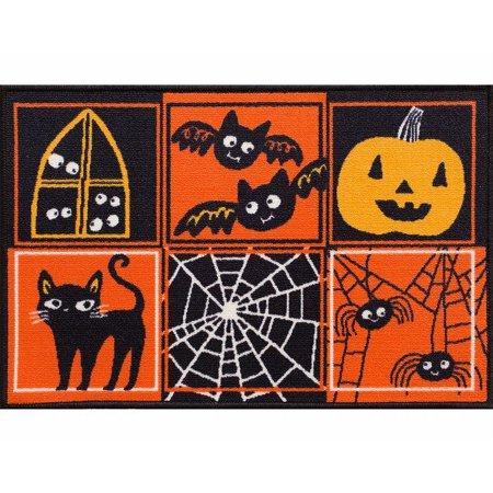 midnight market accent throw rug patchwork halloween no skid kitchen mat 20x30