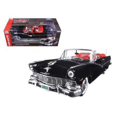 1956 Ford Sunliner 60th Anniversary Black Limited Edition to 1002pcs 1/18 Diecast Model Car by