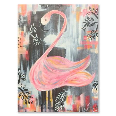 Oopsy Daisy - Canvas Wall Art Mingo The Flamingo 10x14 By Kate Capone