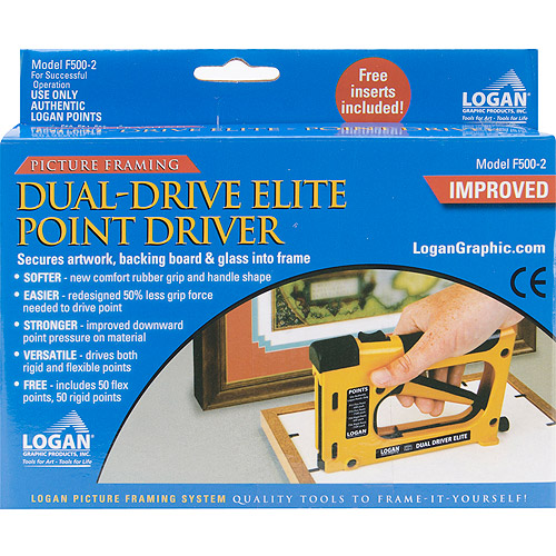 Logan Graphic F500-2 Dual Drive Elite Picture Framing Point Driver