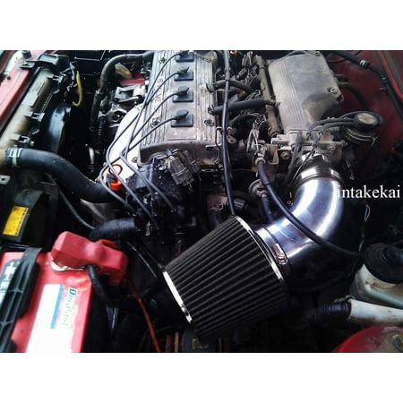 1990 1991 1992 1993 1994 1995 1996 1997 1998 1999 TOYOTA CELICA 1.6L 1.8L 2.2L l4 ENGINE AIR INTAKE KIT SYSTEMS (BLACK)
