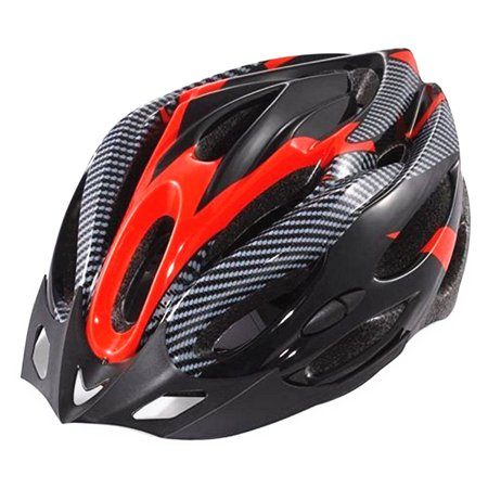 Bicycle Helmet Visors (Cycling Bicycle Adult Bike Safe Helmet Carbon Hat With Visor 19 Holes)