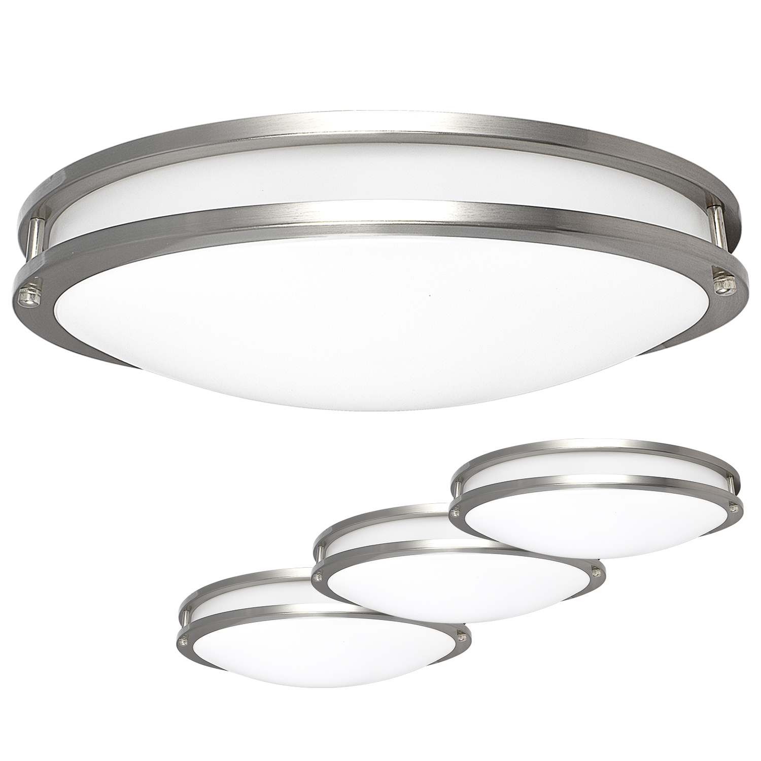 Luxrite LED Flush Mount Ceiling Light, 18 Inch, Dimmable
