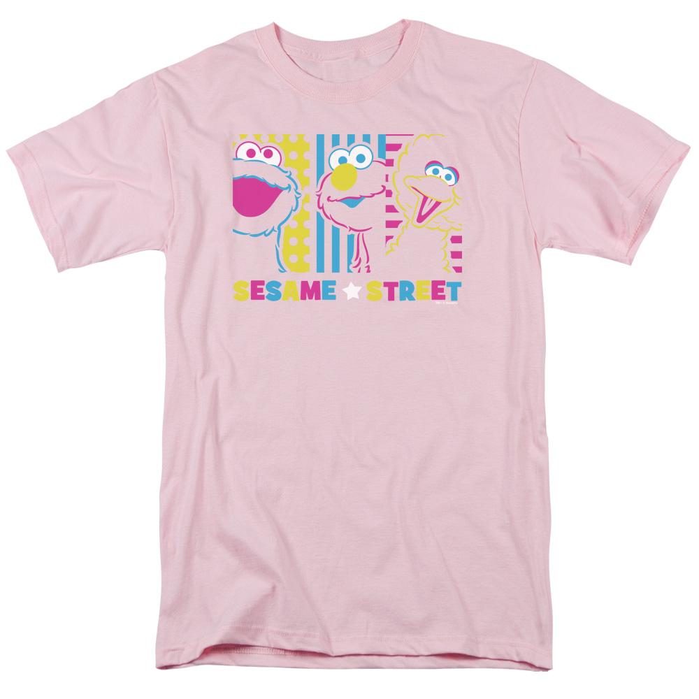 Sesame Street Children's TV Show Cookie Monster Elmo Big Bird Adult T-Shirt Tee