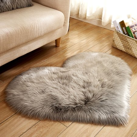 Sheepskin Wool Rug Throw - Tuscom Wool Imitation Sheepskin Rugs Faux Fur Non Slip Bedroom Shaggy Carpet Mats