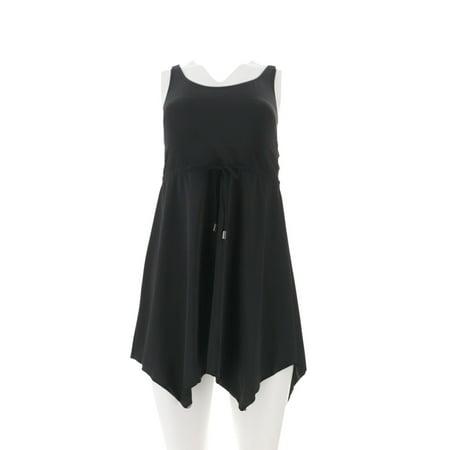Denim & Co Beach Handkerchief Hem Swim Dress A303729 - Next Giraffe Dress