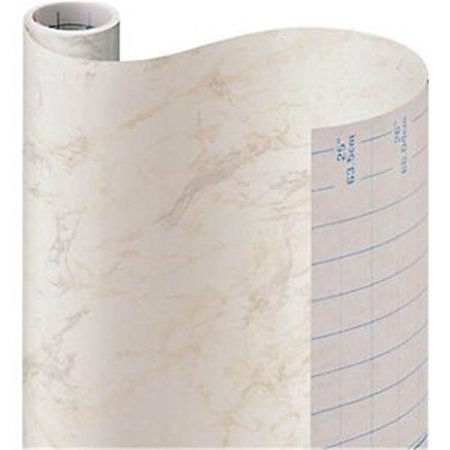09F-C9823-12 18 in. x 9 ft. Marble Contact Paper, Beige Decorative coverings self-adhesive multipurpose 18 inches x 9 feet pattern color - beige marble See similar products in our Self Adhesive Vinyl Liner 9 Foot Rolls department. SpecificationsColor: BeigeSize: 18 in. x 9 ft. Weight: 0.5- SKU: ZX9ORGL88843
