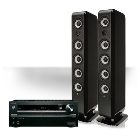 Onkyo TX- NR646 Network AV Receiver w/Boston M-Series Floorstanding