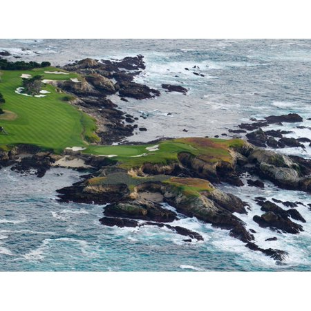 Golf Course on an Island, Pebble Beach Golf Links, Pebble Beach, Monterey County, California, USA Print Wall Art