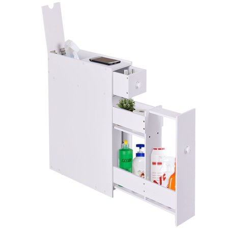 Zimtown Bath Toilet Cabinets Drawers Stand Space Saver Storage Kitchen Bathroom (Hampton Bay Bath Cabinet)