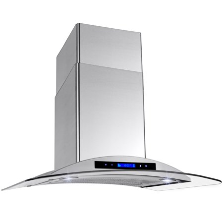 "Image of AKDY 30"" Europe Stainless Steel Wall Mount Range Hood Stove Vent w/ Grease Filter Touch Control Panel"