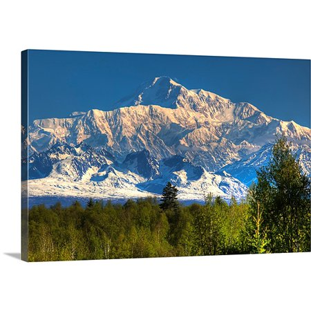 Great Big Canvas Premium Thick Wrap Canvas Entitled Southside View Of Mt  Mckinley As Seen From Talkeetna  Alaska